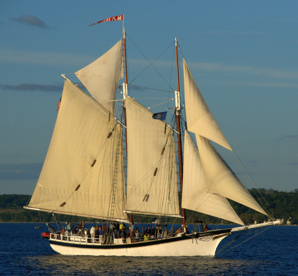 Tall Ship Manitou under sail