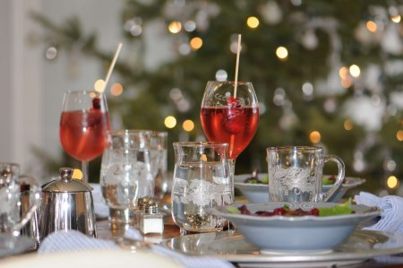 Table at holiday event at Farmhouse B&B
