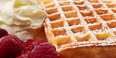 Waffles served at Kingsley House