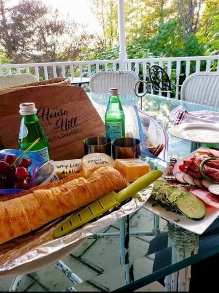 Charcuterie basket add-on amenity at House on the Hill.