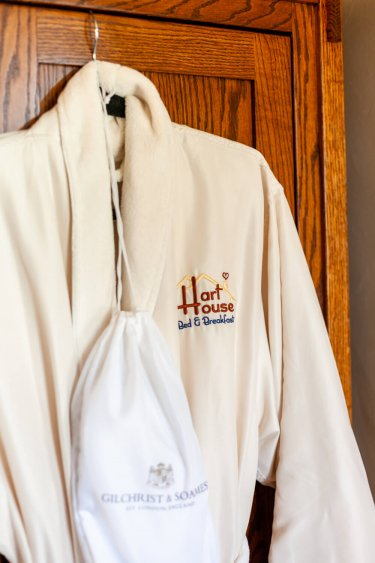Hart House B&B, which has a hot tub, provides robes like this.