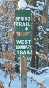Trail sign at Clear Springs Nature Preserve