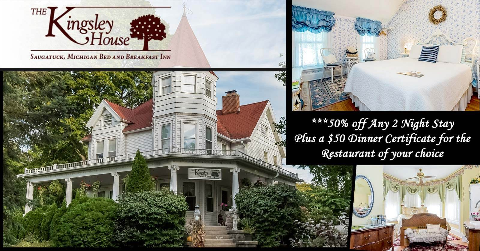 50% off promotion for Kingsley House