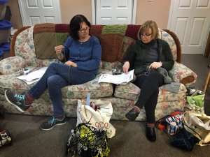 Knitters at the studio of Nautical Yarn