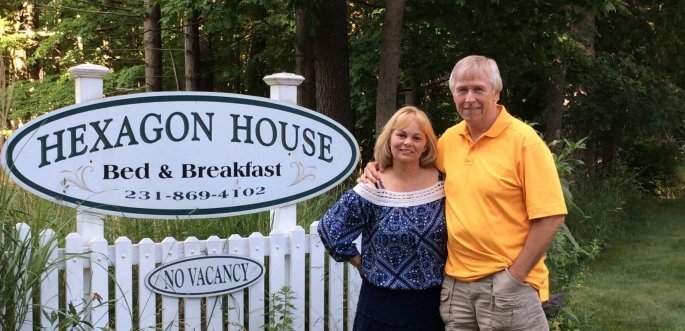Connie Loisch and Richard Webber at Hexagon House B&B