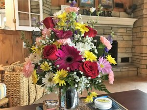 Example of a bouquet available at Glen Arbor B&B