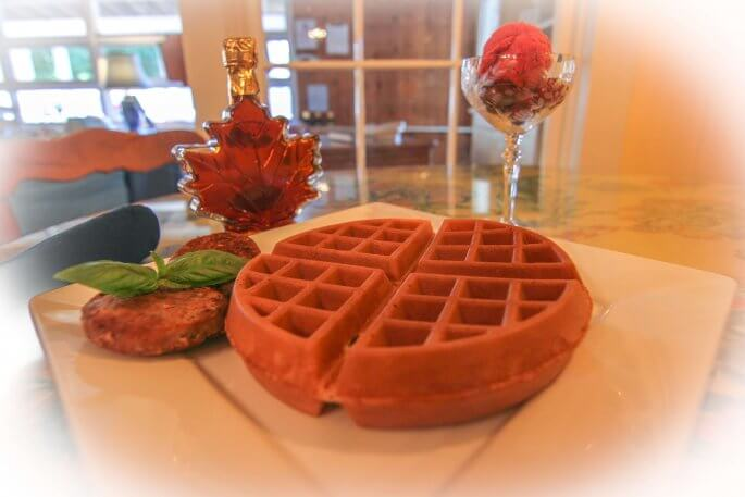 Breakfast at Glen Arbor B&B uses locally sourced ingredients.