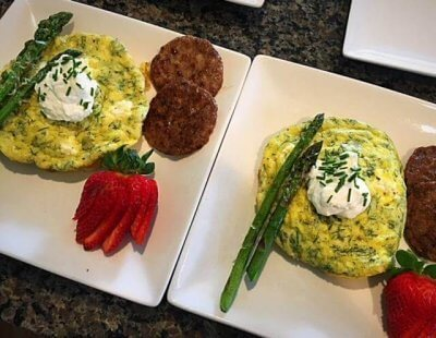Herbed Frittata served at House on the Hill B&B
