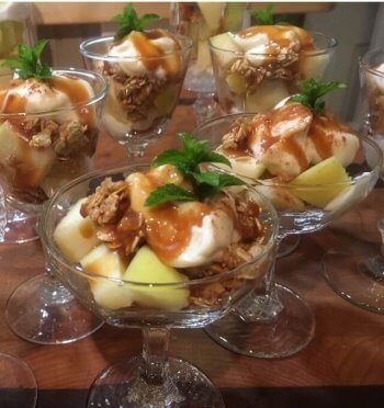 Bear Lake caramel apple parfaits