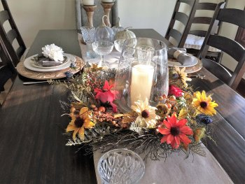 Even a breakfast table can capture the spirit of autumn adventure. Here, Maple Cove B&B.