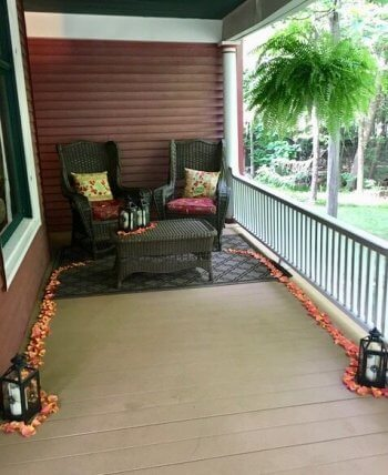 When popping the question at Sherwood Forest B&B, many guests choose this private nook of the porch.