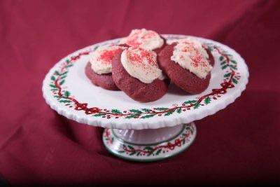 Red Velvet Cookies made at White Swan Inn