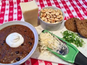 Chili and fixings as served at Adventure Inn