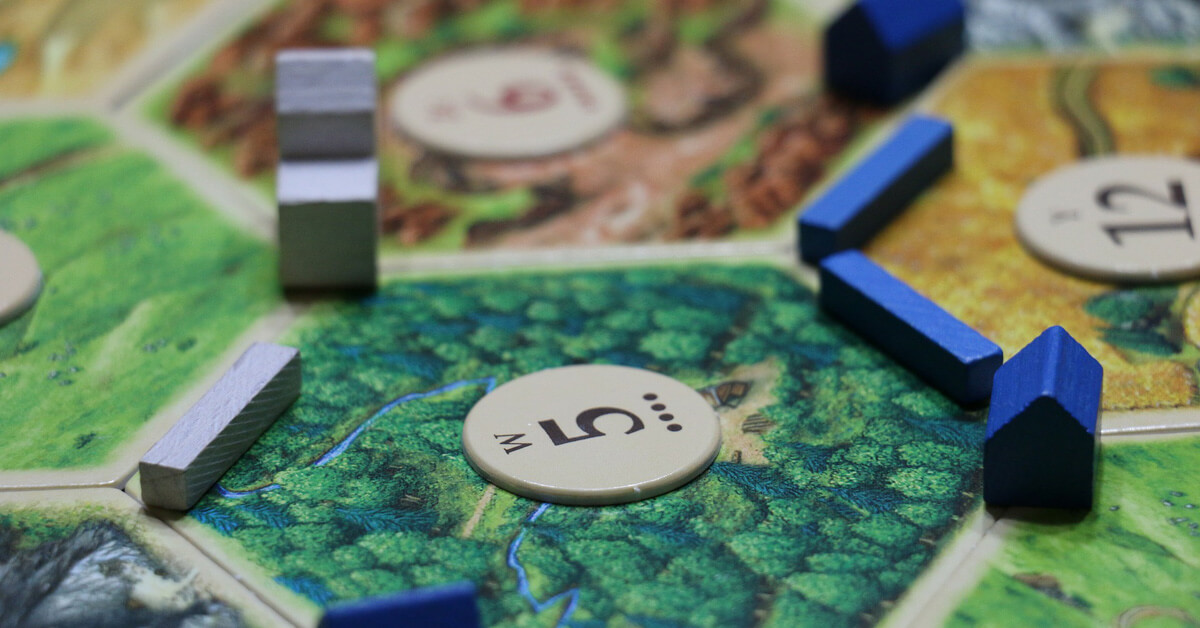 Settlers of Catan game.