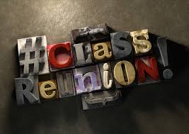 'Class Reunion' spelled out in different typeset letters