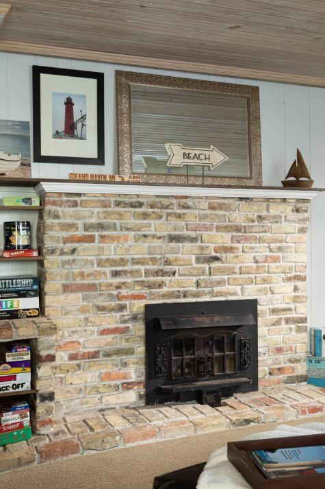Fireplace at Looking Glass Beachfront Inn