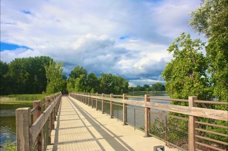 Boardwalk along the BayZil Trail, one of Michigan's