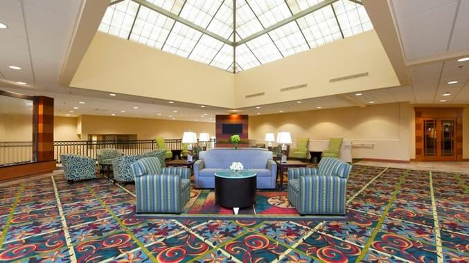 Lobby of Hilton DoubleTree in Holland MI