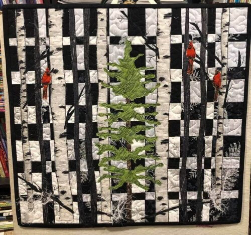 A sample of innkeeper Janet Rochefort's quilting.