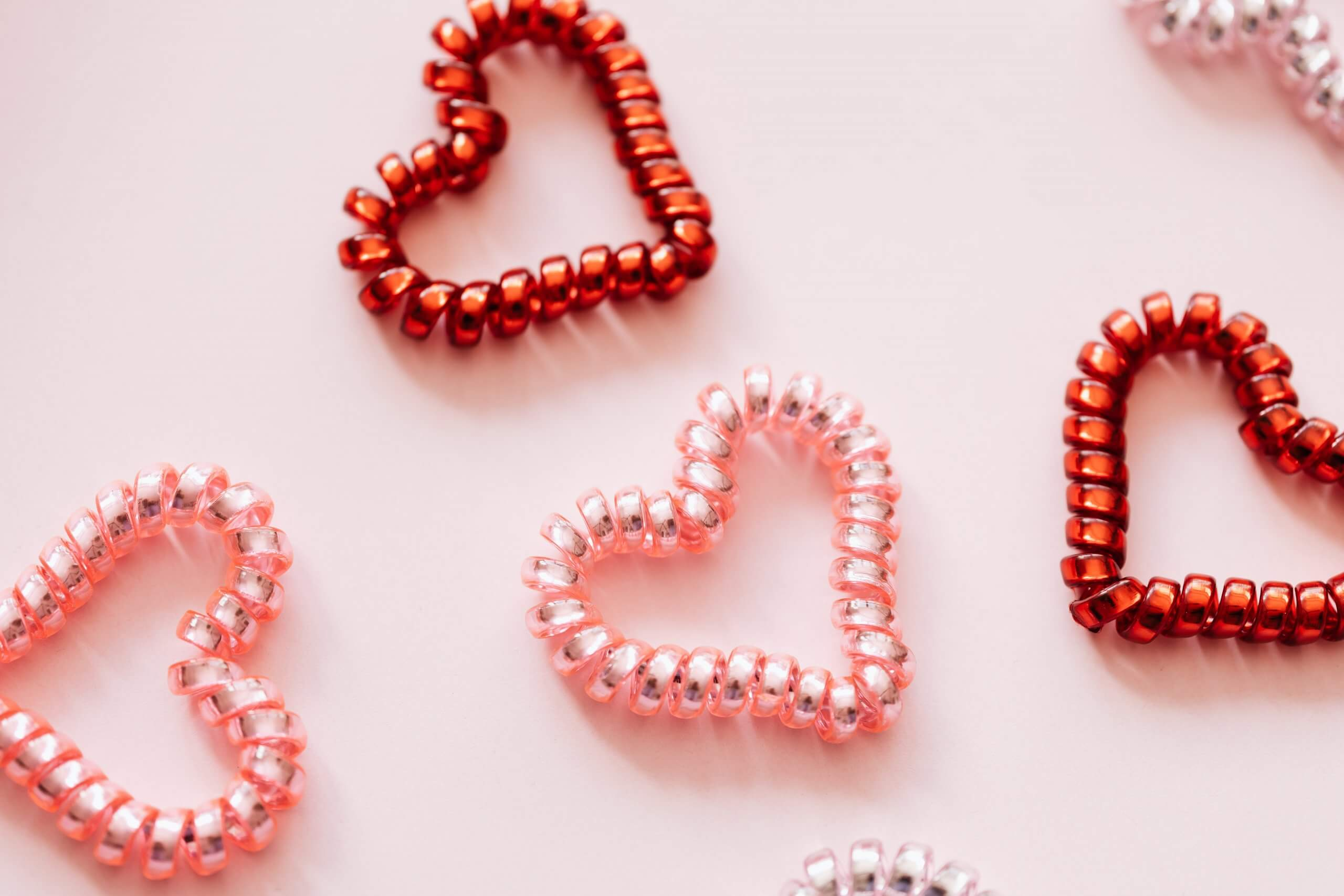 hearts made from beads